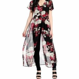 New-Kate & Mallory Sheer Floral Duster
